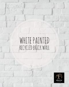 What Am I White Painted Recycled Brick Willow College
